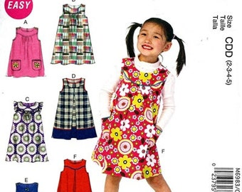 GIRLS JUMPER PATTERN / Make Child's Jumpersl / 6 Styles / Sizes 2 - 5 or 6 - 8