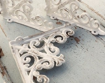 Small Iron Brackets, Iron Shelf Brackets, Country Home, Bathroom Fixture, Brackets, Anthropologie Home, 6x6 in Size