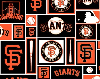 San Francisco Giants MLB cotton 58-60 inches wide