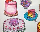 TEST RUN Coloring Pages: Decorative Desserts