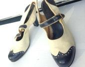 30s 40s vintage suede leather slingback pinup rockabilly heels shoes