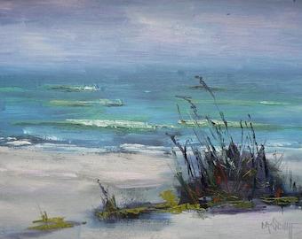 Beach Canvas Print, Beach Giclee Print, Ocean Wall Art, Sanibel Beach Print, Free Shipping