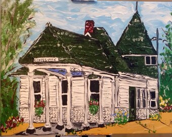 The Charlevoix Depot - original art~ Free Shipping