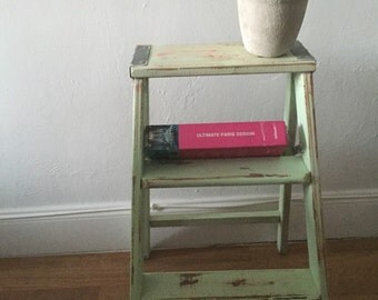 shabby chic sea green ladder CUSTOM COLOR you can pick color