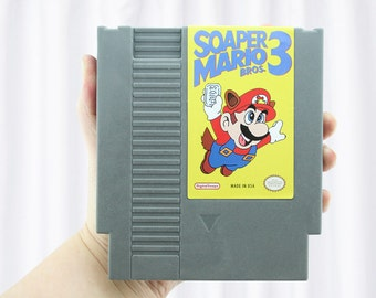 NES Soap Cartridge Parody, Soaper Mario, Super Mario Parody, Vanilla Select Scent by DigitalSoaps, Retro Video Game Geek Gift