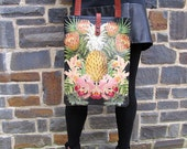 Leather Tote / Laptop bag -  Tropical (Exclusive range)