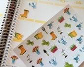 Planner Stickers Gardening Stickers Fits Erin Condren Planner Day Planner Plum Paper