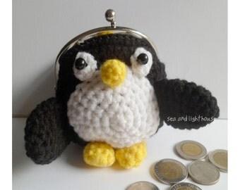 Amigurumi Pattern,Penguin Coin Purse,Bird Coin Purse,Crochet Pattern,Crochet Coin Purse,Crochet PDF Pattern,Crochet Download,Anial Pattern