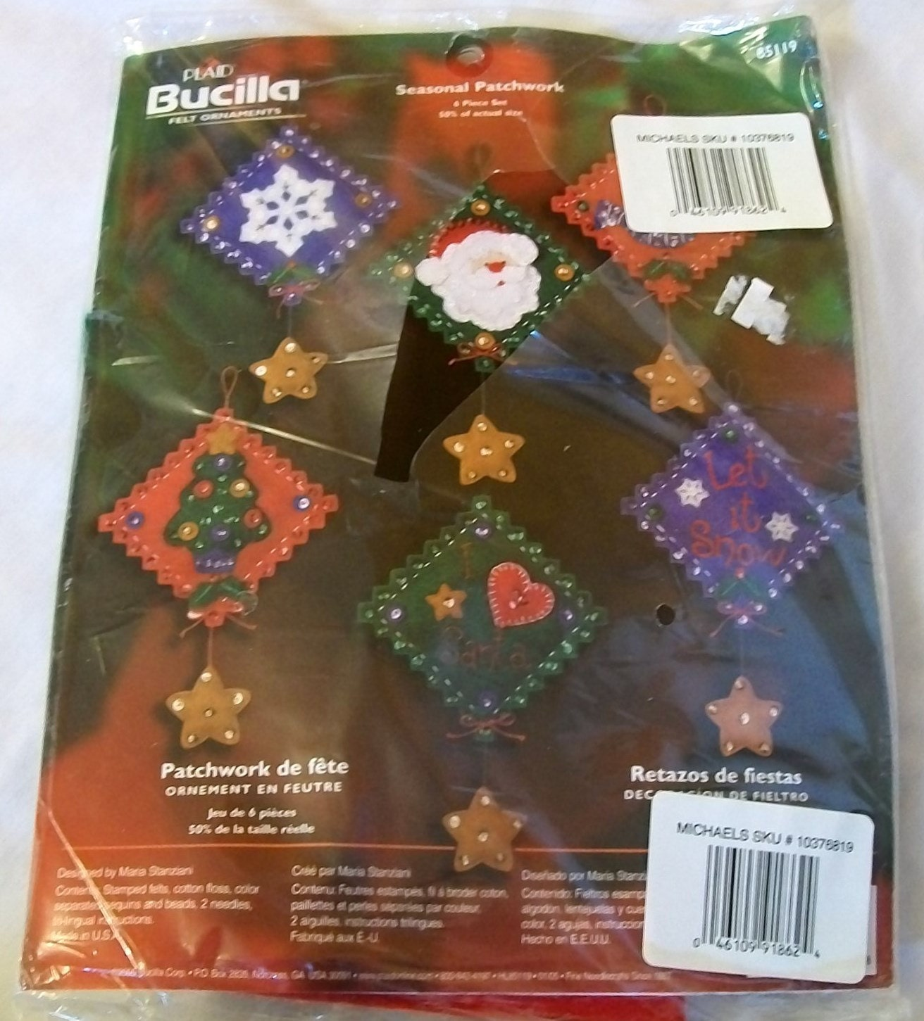 Decorating Ideas > Christmas Ornament Kit Bucilla Craft Kit Felt Kit Bucilla ~ 074301_Christmas Decoration Craft Kits