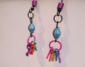 Anondized Aluminum Rainbow Keys Earrings