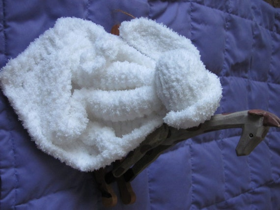 Bunny Blanket Buddy-Bunny Lovey Security Blanket by Kacimaeknits
