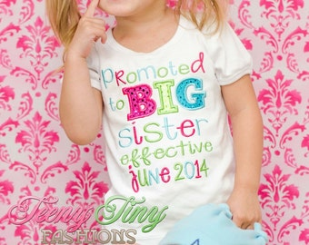Big Sister Shirt ~ promoted to big sister ~ Big Sister Announcement ~ Big Sis ~ Big Sister Outfit ~ I'm Going to be a Big Sister ~ New baby