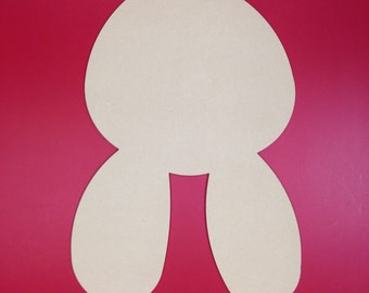 """22"""" Tall Unfinished Bunny Shape made from 1/4"""" MDF"""