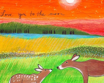 Print : Love You to the Moon #36-P