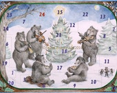 Music on a Winter's night - Advent Calendar - Bears - Woodland - Christmas