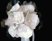 Teacher Gift, Graduation Gift, Mother's Godmother's  Selfie Bouquet, Co-worker Flower girl, Decor Accessories PEARLS and CHAMPAGNE Bouquet