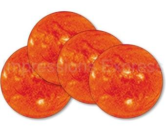 Sun Space Coasters - Set of 4