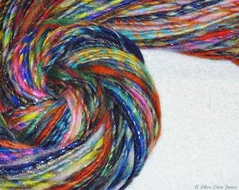 Nostalgic Gypsy Handspun Art Yarn - Mini Skein - 114 yards - Thick and Thin - Knitting - Crochet - Weaving - Felting - Mixed Media, etc.