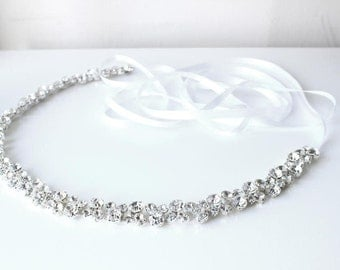 Crystal Bridal Sash | Rhinestone Bridal Belt | Wedding Sash Belt [Starbright Sash]