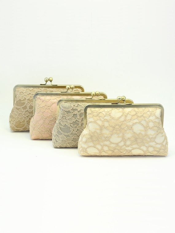 Personalized Bridesmaid Gift Ideas | Set of Clutches | Bridesmaid Clutch | Wedding Clutch [Set of 4 Antoinette Clutches]