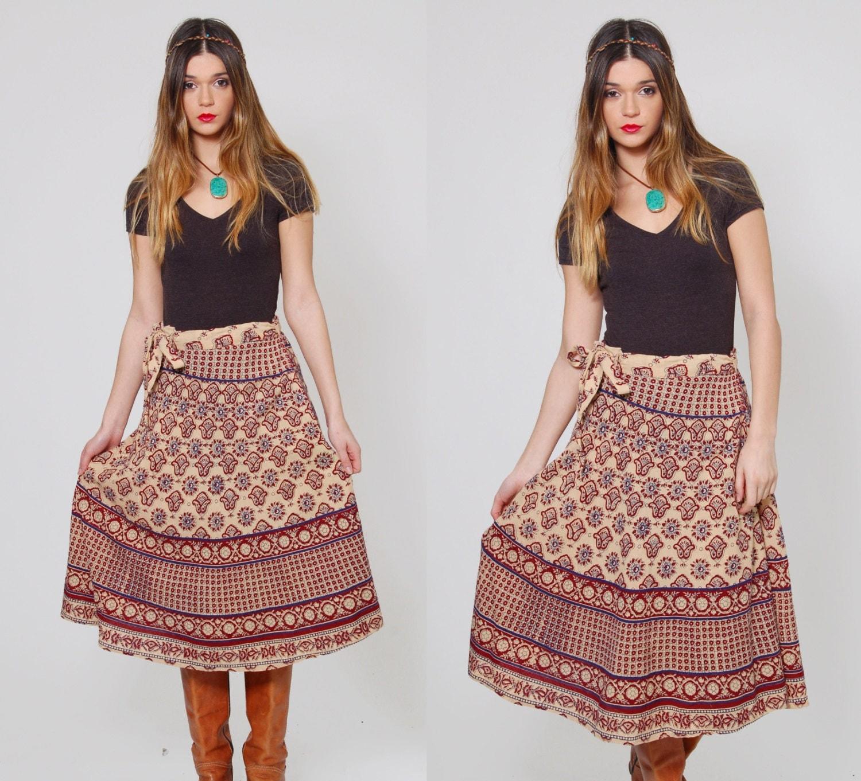 vintage wrap indien jupe ethnique hippie jupe coton boho. Black Bedroom Furniture Sets. Home Design Ideas