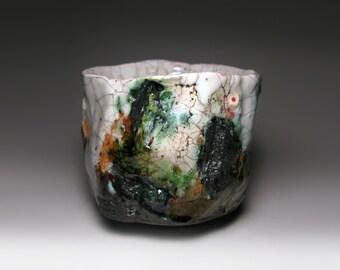 Chawan 68 / Raku tea bowl / bol à thé raku / 100 x 86 mm
