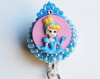 Princess Cinderella ID Badge Reel - RN ID Badge Holder - Zipperedheart