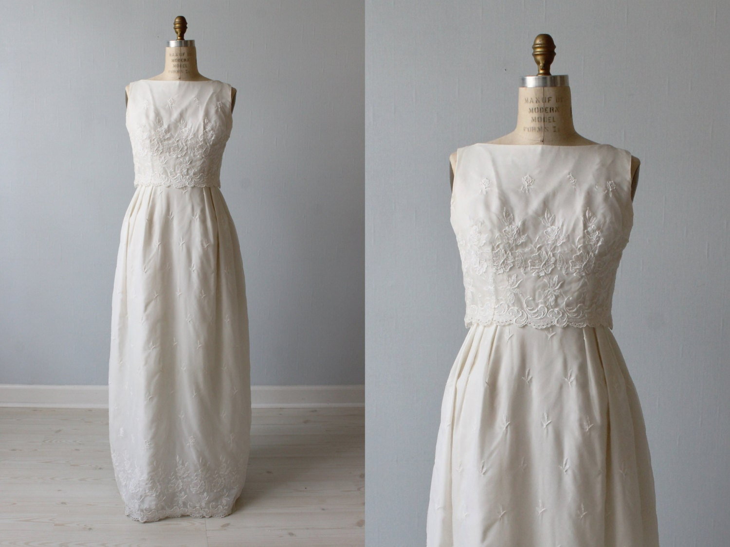 1960s Wedding Dress / Sheath Wedding Dress / by ...