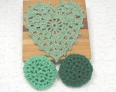 Pot Scrubbers, dishcloth, kitchen set, scour pads, cotton cloth, home cleaning aids, colorful. Pick your 3pc.