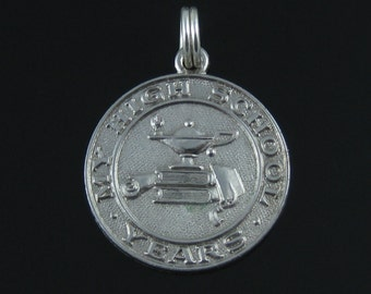 Charm, Sterling Silver, Vintage, My High School Years 925