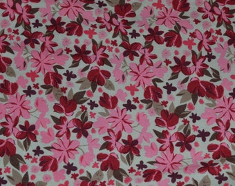 One Yard of Country Meets Modern Tossed Flowers Fabric