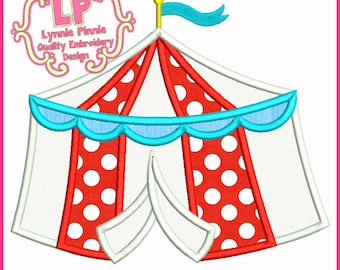 CIRCUS TENT Applique 4x4 5x7 6x10  Machine Embroidery Design Instant