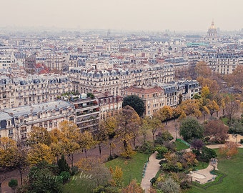 paris photography, travel photography, city, france, Dôme des Invalides, fall, french home decor / paris from above / 8x10 fine art photo