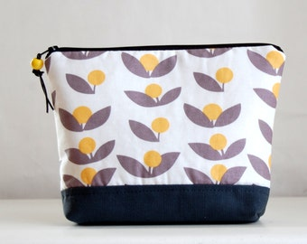Dandelion Tove Large Padded Zipper Pouch Gadget Case Cosmetics Bag - READY TO SHIP