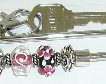 Hot Pink Key Finder, Key Chain, Key Fob, Wristlet