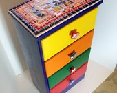 Mosaic Dresser Chest of Drawers for a Child's Room