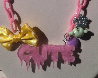 Pastel Pink Cute Necklace