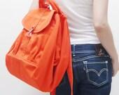 New Year SALE - 20% OFF Essential in Orange / Backpack / Satchel / Rucksack / Diaper Bag / Tote / Women / Shoulder Bag / For Her / Gift