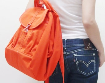 New Year SALE - 20% OFF Essential in Orange / Backpack / Satchel / Rucksack / Diaper Bag / Tote / Women / Shoulder Bag / For Her / Gift