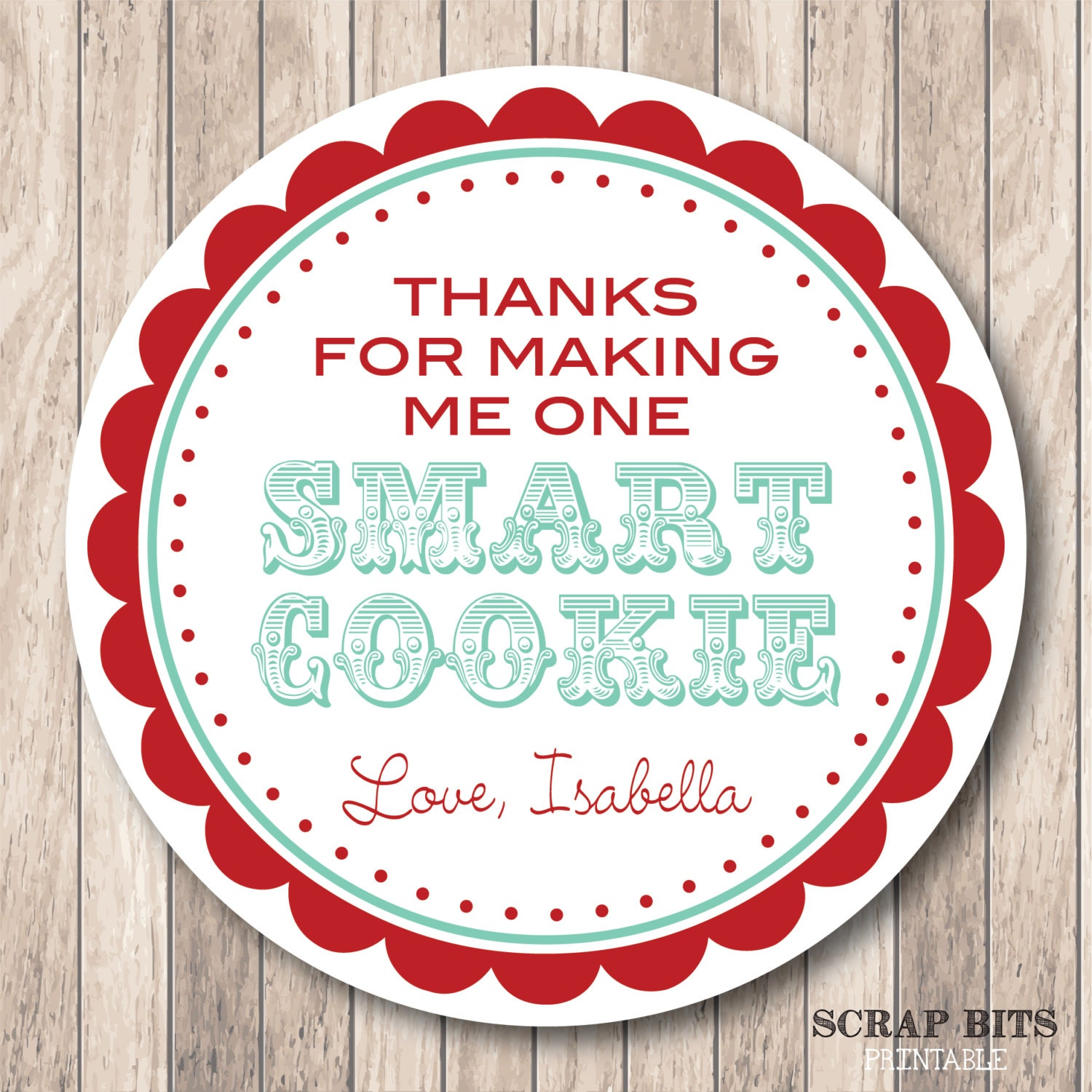 It is an image of Adorable One Smart Cookie Printable