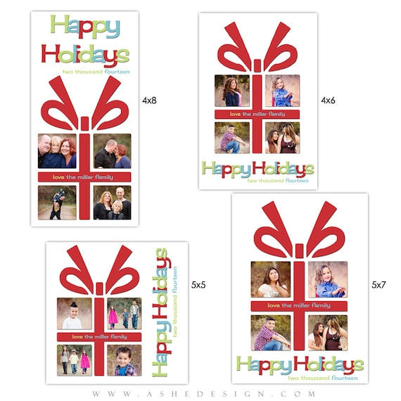 christmas card set the gift photo card set. Black Bedroom Furniture Sets. Home Design Ideas