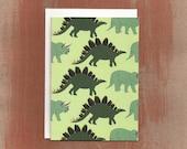 Stegosaurus & Triceratops Pattern Blank Cards (8/box)