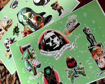 Type O Negative halloween tattoo flash 2 sheets  limited to 20 sets