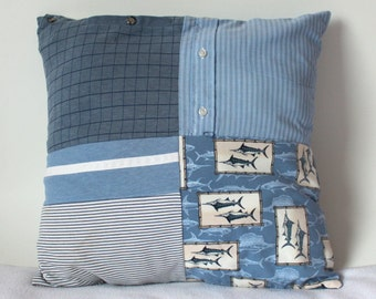 Custom Memory Pillow - Patchwork - Men's Shirts  - Memory Pillow Case