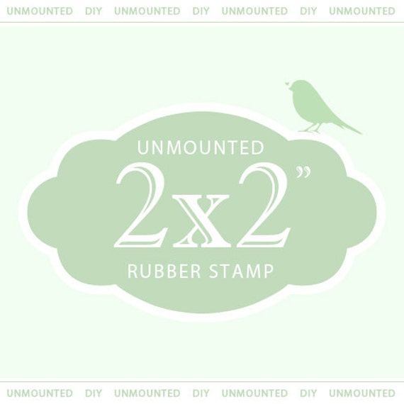 """custom stamp, custom custom logo stamp, custom wedding stamp, personalized stamp,  2 x 2""""  UNMOUNTED"""