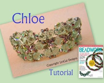 Tutorial Chloe Silky Beads and SuperDuo  Beadwork Bracelet PDF