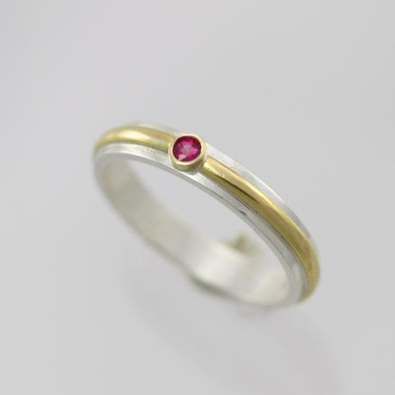 1 Stone Wrap Ring 14K, Sm. (Genuine Ruby) Made to Order