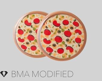 2g (6mm) Pizza Supreme BMA Plugs Single Flare Pair