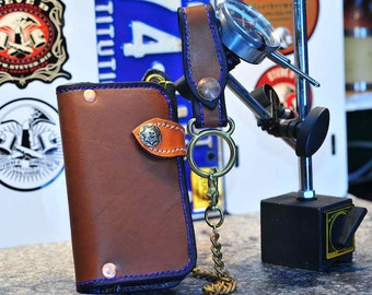 The McBean - a Tanned SuperSquire Wallet, Chain & Fob