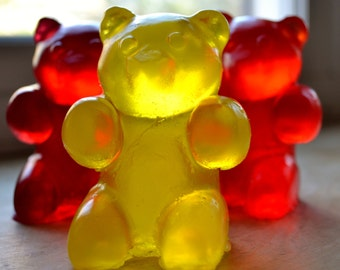Large Gummy Bear Soap - Party Favor Set of 10 - Soap for Kids - Candy Soap - Soap for Kids - Gummy Bears - Novelty Soap - Gift Set